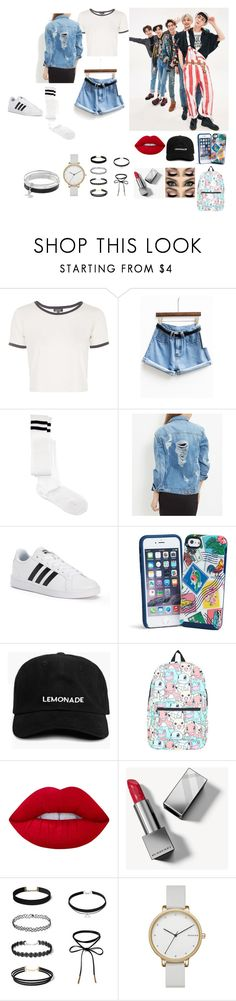 """""""1 of 1"""" by alyssaxoxo-22 ❤ liked on Polyvore featuring Topshop, ASOS, adidas, Vera Bradley, Nintendo, Lime Crime, Burberry, Skagen, Dana Buchman and simple"""