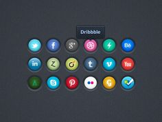 Social Icons by Julien Lavallee