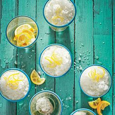 Lemony Snow | For a grown-up version, drizzle the lemon ice with rum, gin, vodka, or limoncello.