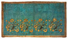 Embroidered altar frontal with motive of flower twigs by Anonymous from Poland, first half of the 18th century (PD-art/old), Muzeum Uniwersytetu Jagiellońskiego (MUJ)