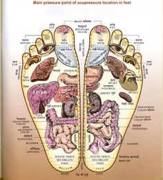 Massage your feet. It's one of the best ways to stay healthy. Look at all the accupoints in your feet. This is a great chart.