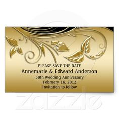 Sticker - 50th Wedding Anniversary Save The Date