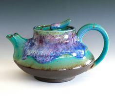 Kawa, River Teapot, Handmade Ceramic Teapot, ceramics and pottery. $125.00, via Etsy.