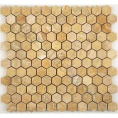 Giallo Real Brown Hexagon Stone Polished Tile