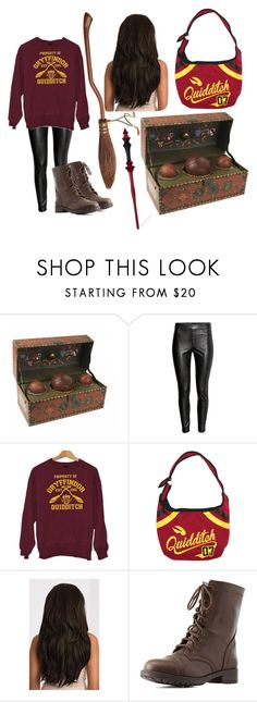 """Gryffindor Quidditch Team"" by azura123 ❤ liked on Polyvore featuring Nimbus, Warner Bros. and Charlotte Russe"