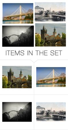 """Old Bridge ..."" by awewa ❤ liked on Polyvore featuring art"