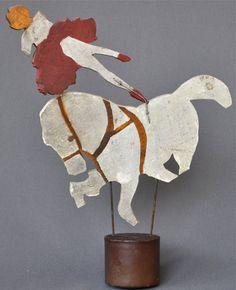 Vintage Folk Art Carving Circus Horse