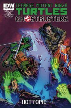 TMNT | Teenage Mutant Ninja Turtles/Ghostbusters #3 Comic by IDW Publishing - Hot Topic Exclusive