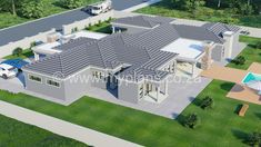 4 Bedroom House Plan - My Building Plans South Africa Four Bedroom House Plans, My House Plans, My Building, Building Plans, Architect Fees, Single Storey House Plans, Construction Drawings, Modern House Design, Windows And Doors