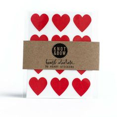 HEART STICKERS - RED - Simply Sweet Soirees