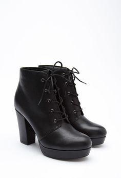 Bottines en Similicuir à Talon - chaussures et bottes pour Femmes| voir en ligne | Forever 21 - 2000161380 - Forever 21 EU Français