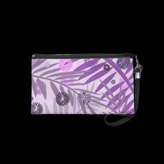 Girly Purple Passion Tropic Splash Wristlet by expressyoursoul