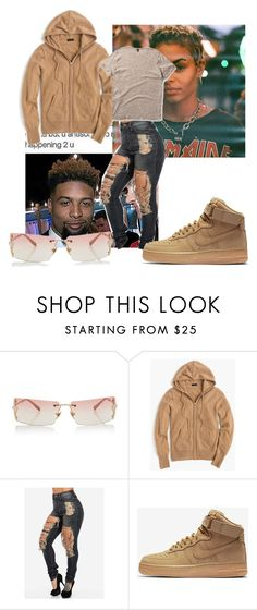 """""""On The Way"""" by jsburns1 ❤ liked on Polyvore featuring Versace, J.Crew, NIKE and Dr. Martens"""