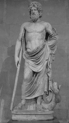 """https://flic.kr/p/KEfgR1   """"Esculape"""", 2ème siècle après JC, restauré au 18ème siècle. Musée du Louvre."""