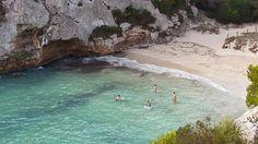 Strand Guide - Nach einer knappen Stunde Fußmarsch von der Cala Galdana erscheint die Traumbucht Cala Macarelletta