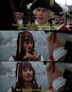 Pirates of the Caribbean will forever be my favorite movie. It's a pirates life for me ;)