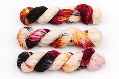 embers hand dyed yarn sock yarn fingering by KnitCosmicStrings