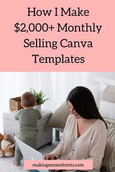 How I Make $2,000+ Monthly Selling Canva Templates Media Kit Template, Online Graphic Design, Online Earning, Work From Home Jobs, App Design, How To Make Money, Social Media, Templates, Things To Sell