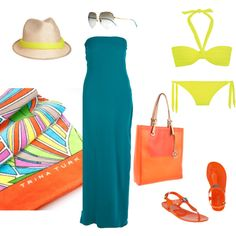 Day at the Beach, created by darahcooney on Polyvore