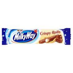 Хрустящие вафельные трубочки с ароматной сливочно-ванильной начинкой, Milky Way Crispy Rolls в молочном шоколаде нравятся... Milky Way Crispy Rolls, Mars Chocolate, Whey Powder, Powdered Milk, Cocoa Butter, Chocolate Covered, Biscuits, Candy, Snacks