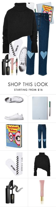 """""""Let's go"""" by heremyworld ❤ liked on Polyvore featuring Converse, The Idle Man, Olympia Le-Tan, STELLA McCARTNEY, Off-White, Ann Demeulemeester, INIKA, AERIN and BackToSchool"""