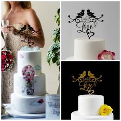 Love Birds Cake Topper. This Love Cake Topper by yourperfectfinish