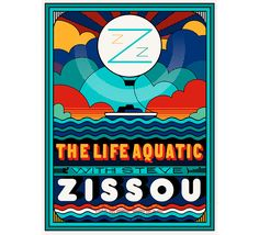 Alternative movie poster for The Life Aquatic by Sam Smith