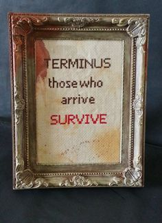 The Walking Dead Terminus Hand Distressed by stickystitchuation