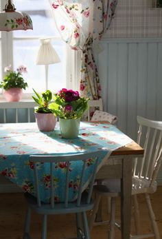 Vintage, pastel kitchen. Inspired by Cath Kidston