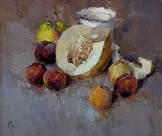 Alexi Zaitsev - Still Life with cut Melon 2007