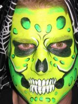 . Kids Makeup, Eye Makeup, Skull Face Paint, Painted Faces, Green Monsters, Face Painting Designs, Face Paintings, Body Paint, Dress Me Up