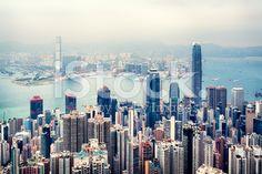 Skyline di Hong Kong  - fotografia stock royalty-free
