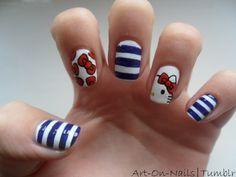 Hello Kitty Nails Nail Polish Designs Cute Design Red
