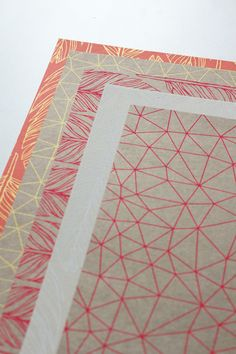 I like all the different angles and lengths of the lines on all of the different prints.