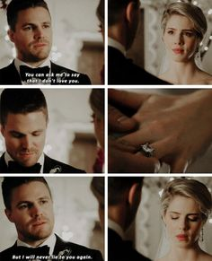 But I will never lie to you again… #Arrow #Olicity #4x16