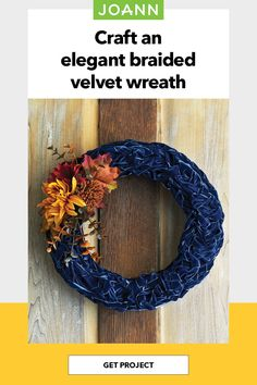 This elegant ribbon wreath can be modified to fit your aesthetic and add just the right amount of seasonal style to any door.