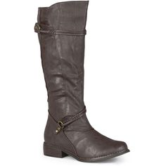 Journee Collection Harley Womens Wide Calf Riding Boots ($65) ❤ liked on Polyvore featuring shoes, boots, mid-calf boots, knee high riding boots, wide calf slouch boots, slouch boots, knee high boots and slouchy mid calf boots