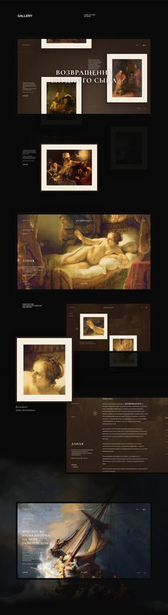 Rembrandt : Website on Behance Book Design, Web Design, Graphic Design, Design Ideas, Interactive Websites, Art Web, Palette, Website Features, Jobs Apps