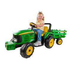 "Peg Perego - John Deere Farm Power Tractor Ride-On with Trailer - Peg Perego - Toys""R""Us"