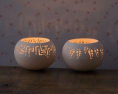 Porcelain Tea light Delight - Wedding Candle Holder N.6. Modern ceramic votive holder. Designed and crafted by Wapa Studio.. $40.00, via Etsy.
