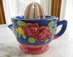 Antique Majolica Reamer yr Tin Glaze Pottery Ceramic Lemon Lime Citrus Juicer   eBay