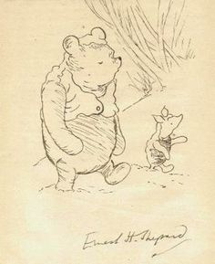 Winnie the Pooh - Winnie the Pooh and Piglet - Illustration Art Animazing Gallery http://www.amazon.com/dp/B00AP60GNA/ref=cm_sw_r_pi_dp_bZoLvb1KBH7PR