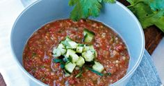 Opskrift på gazpacho med knas | Få opskriften her
