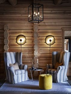 STORFJORD HOTELL — Corniche Interior Design Chandelier, Mountain, Cabin, Ceiling Lights, Interior Design, Lighting, Home Decor, Cornice, Nest Design