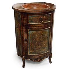Olde World Copper Sink Vanity : , Storeroom on Main