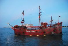 One of the Captain Hook pirate ships.