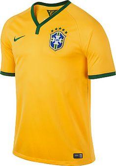 NIKE Men's 2013/14 Brasil Stadium Replica Soccer Jersey #giftofsport