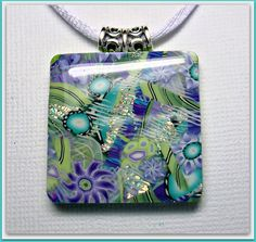 Purple -Turquiose- Moss Green Pendant