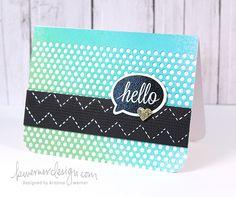 Hello card--Kristina Werner