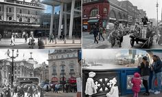 The free Streetmuseum app can recognise a user's location and then overlay the historic image on their current view.